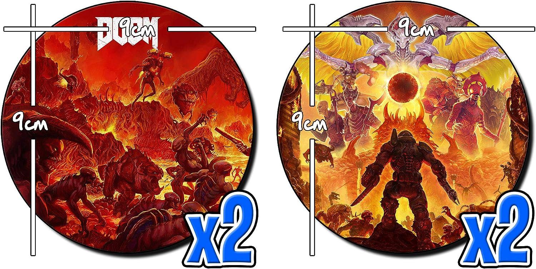 MasTazas Doom Eternal Dessous sous-Verres x4 Coasters