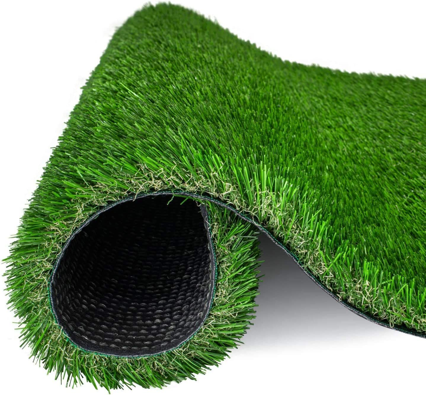 Artificial Grass Turf Realistic Lawn for Indoor Outdoor Pets Garden Mats Playground Great Drainage with UV Protection 1 Inch Pile Height (Sample)