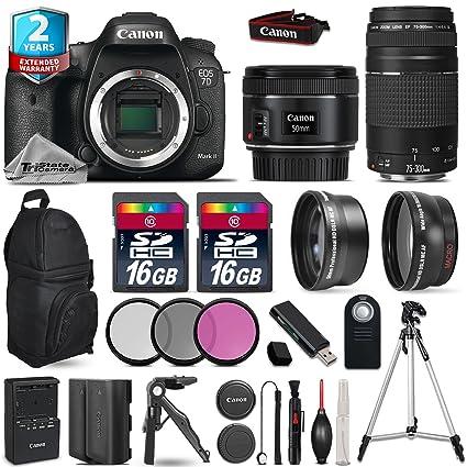 Amazon com : Canon EOS 7D Mark II DSLR Camera + Canon 50mm