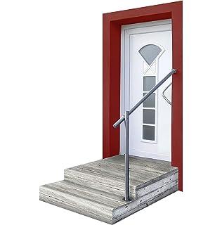 Treppen Geländer seitliche Montage GE3 Edelstahl Geländerset für Eingang