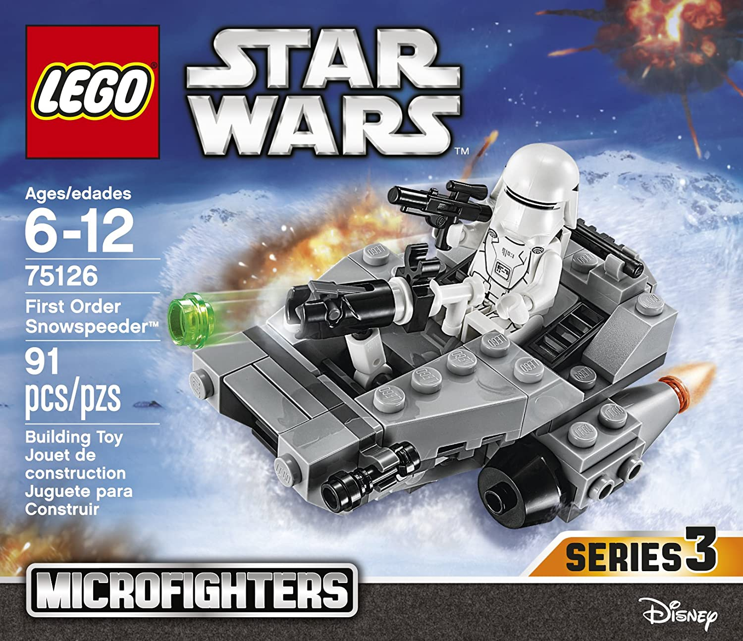 LEGO STAR WARS FIRST ORDER SNOWSPEEDER 75126 MICROFIGHTERS SNOWTROOPER NEW