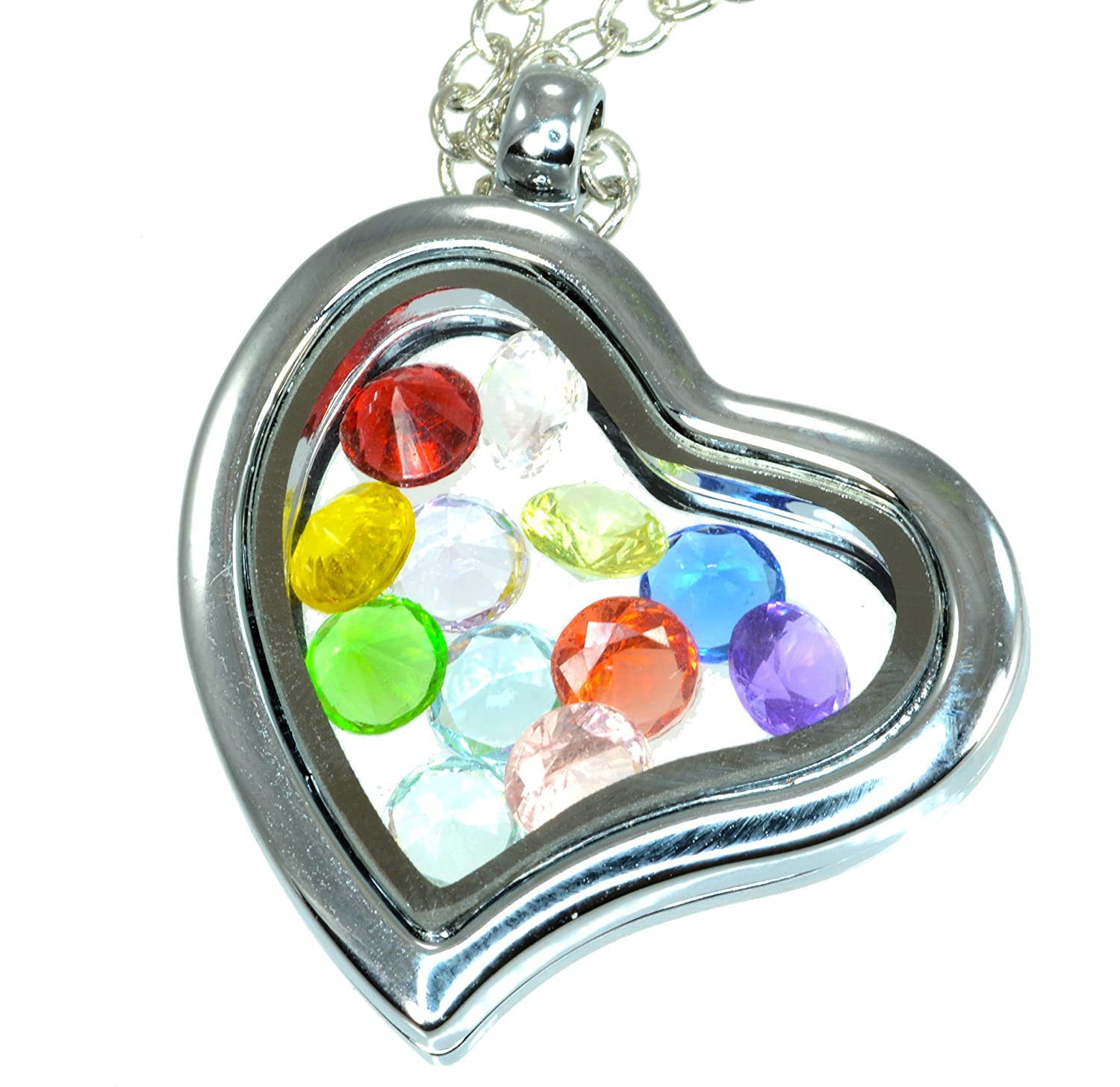 products shaped locket real large lockets sea heart glass clear authenticated