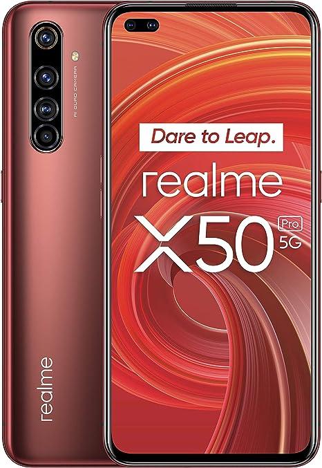 "Oferta amazon: realme X50 Pro – Smartphone 5G de 6.44"", 8 GB RAM + 128 GB ROM, procesador OctaCore Qualcomm Snapdragon 865, cuádruple cámara AI 64MP, MicroSD, Rust Red"