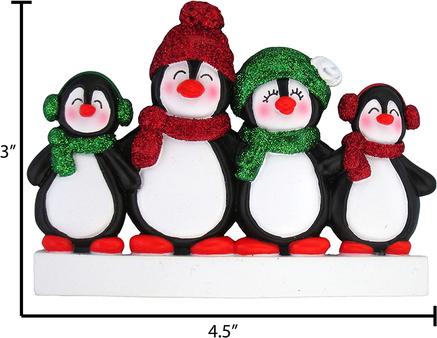 Personalized Family Christmas Ornament Penguin Family of 3 Penguins Ornament Christmas Gift Custom Ornament Holiday Gift Name /& Date OR227