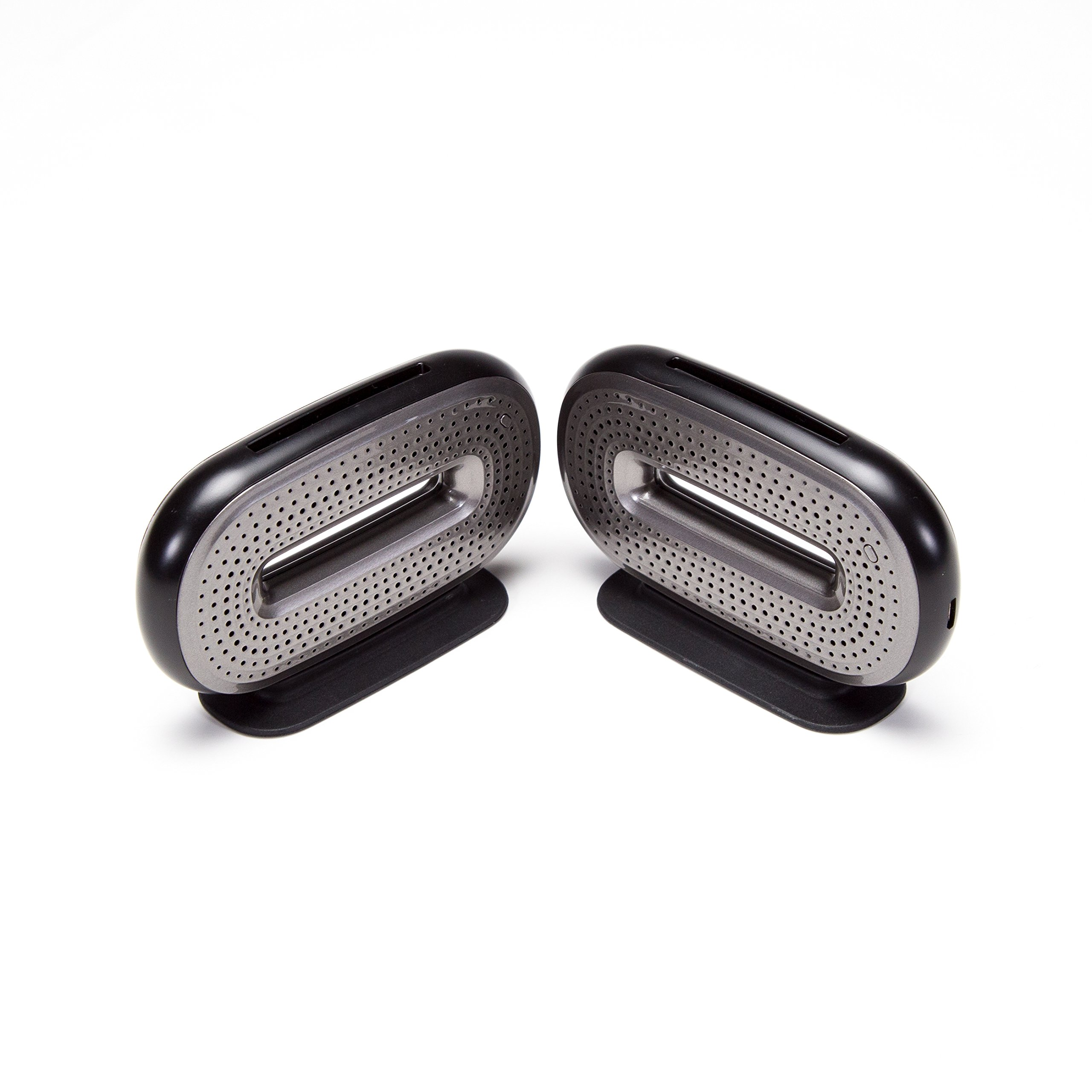 Mini-O Portable Bluetooth Speaker Pair - Pocketable and Powerful with Unparalleled Audio Technology, True Wireless Stereo Sound, High Resolution Audio for iPhone, iPad, Android, and More - Black