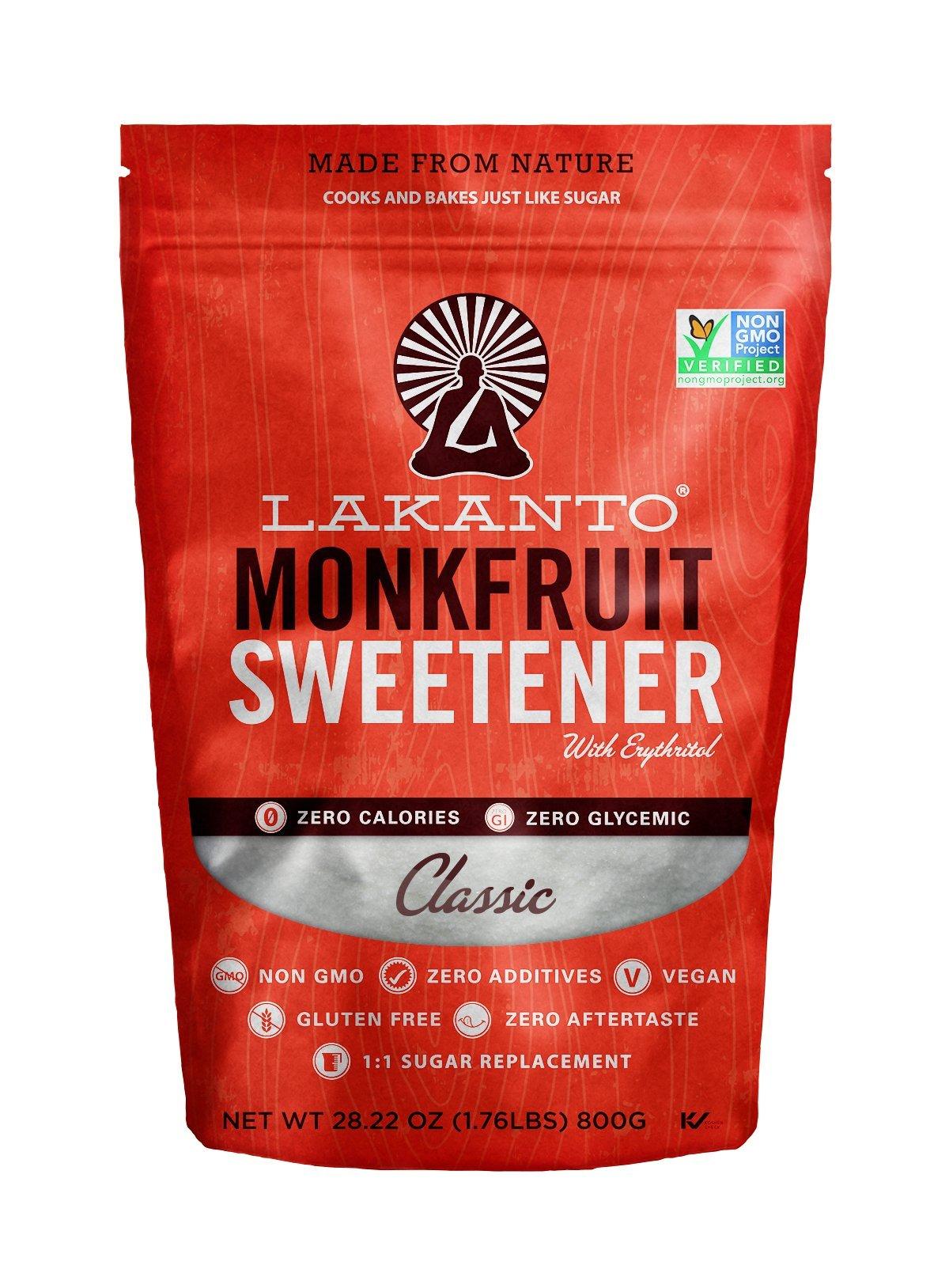 Lakanto Monkfruit 1:1 Sugar Substitute | 28 oz NON GMO (Classic White, 800 g)