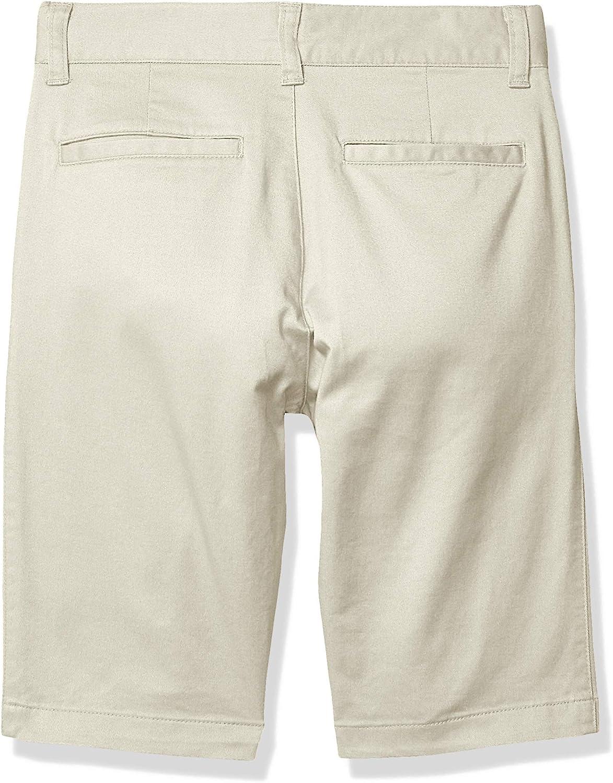 8 S Essentials Flat Front Uniform Chino Short Light Khaki