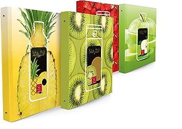 Piña Fruta carpeta de anillas, Unidades 5 unidades: Amazon.es: Oficina y papelería