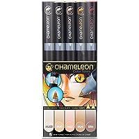Chameleon Art Products Tonos de Piel, Juego de 5 bolígrafos