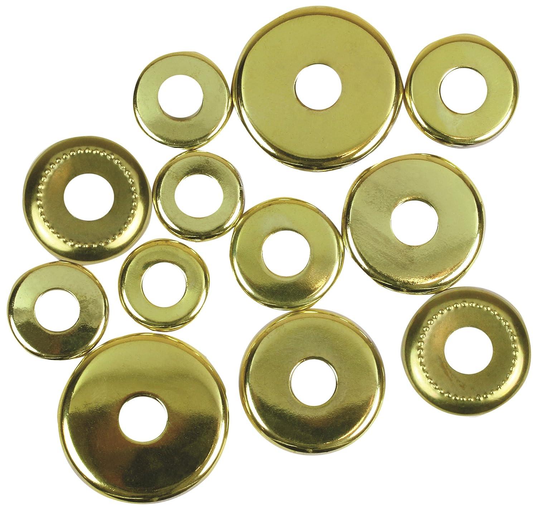 Pack of 12 Brass Finish Jandorf 60140 Check Rings Assorted 1//8 IP Slip