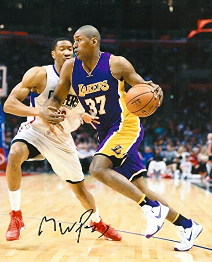 38bc6e7a8 Signed Ron Artest Photograph - METTA WORLD PEACE 8X10 COA A - Autographed  NBA Photos