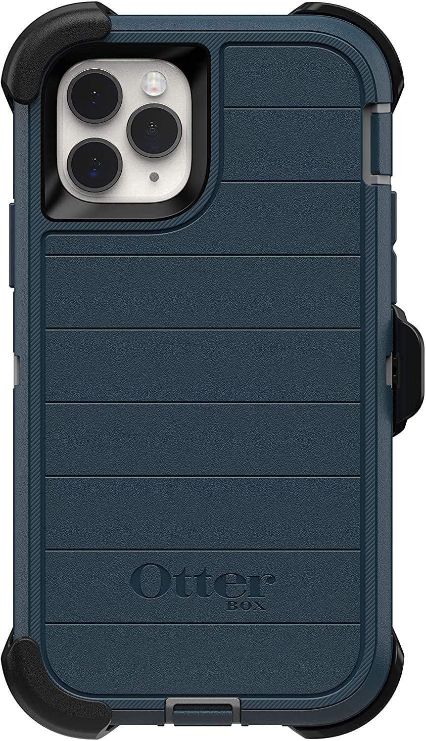 OtterBox Defender Series Rugged Case & Holster for iPhone 11 Pro Only (Not for The Pro Max Model) - Non Retail Packaging - Gone Fishin Blue (with Microbial Defense)