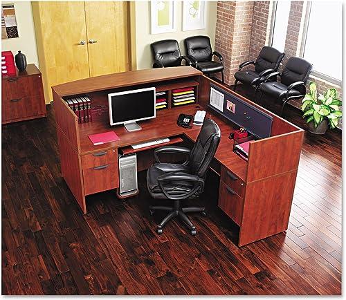 Alera VA217236ES Valencia Series Straight Front Desk Shell 71w x 35 1 2d x 29 1 2h Espresso