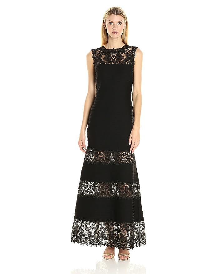 Tadashi Shoji Women\'s Lace Illusion Gown at Amazon Women\'s Clothing ...