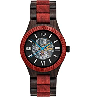 TruWood Ember Automatic Wooden Watch with Red Sandalwood And All-Wood Band