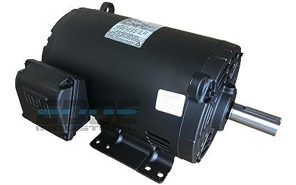 Electric Motor 5 HP 3 Phase 1750 RPM 1.125/'/' shaft 184T frame 60 Hz 230//460V