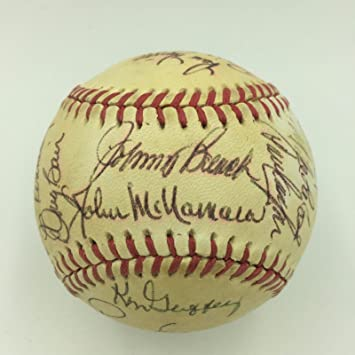 be68a2a02b0 1979 Cincinnati Reds Team Signed Baseball Tom Seaver Johnny Bench ...