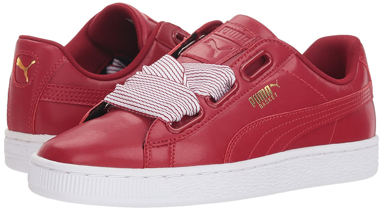 PUMA Women's Basket Heart Wn Sneaker B07524V3N3 5.5 M US|Red Dahlia-red Dahlia