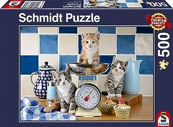 Schmidt Spiele 58370 - Puzzle (500 Piezas), diseño de Gatos ...