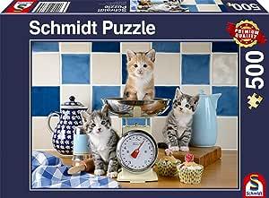 Schmidt Spiele 58370 - Puzzle (500 Piezas), diseño de Gatos en la ...
