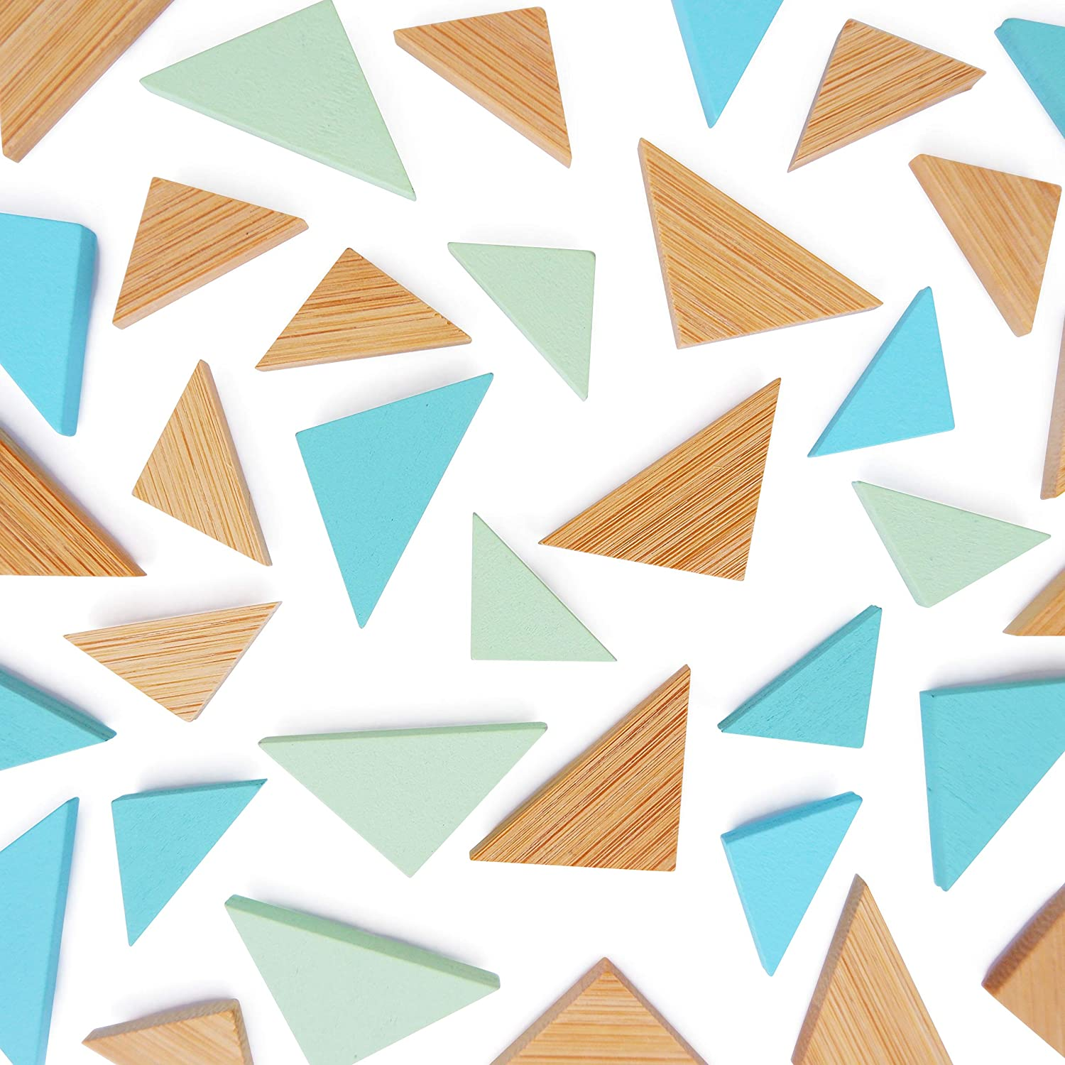 Kit Triangle Teal Themed Magnets, Pack of 36