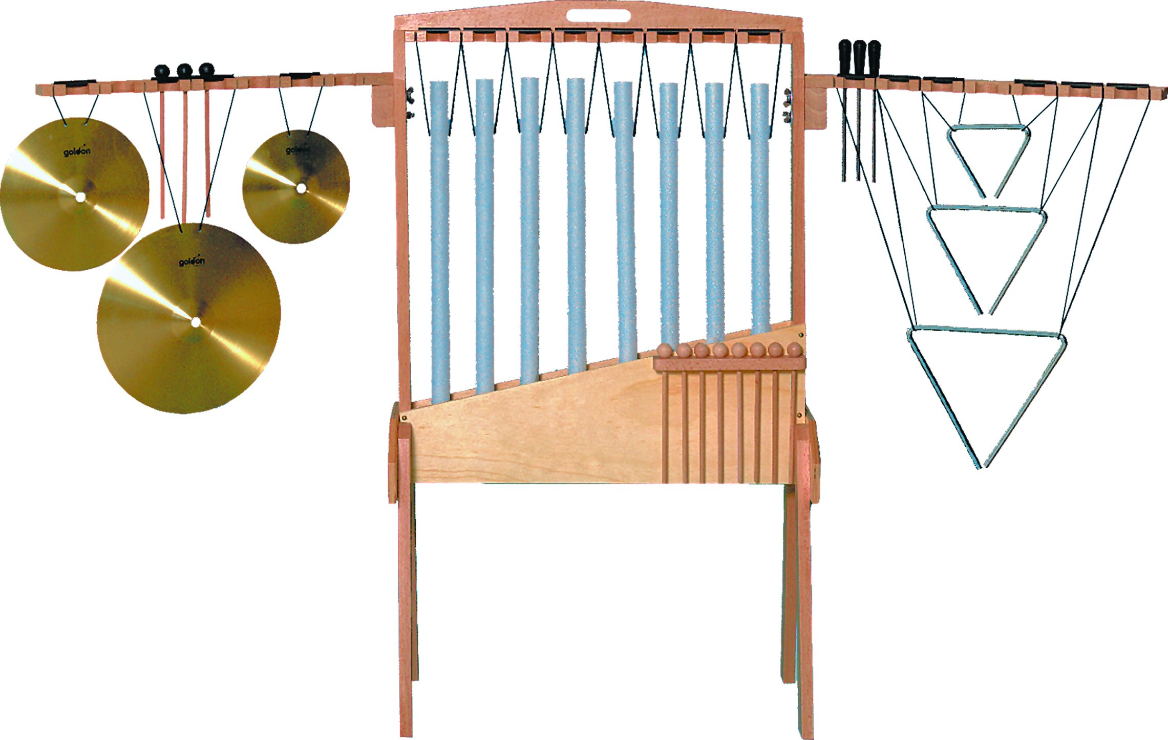 Goldon 33915 Percussion Frame with 8 Tubular Chimes