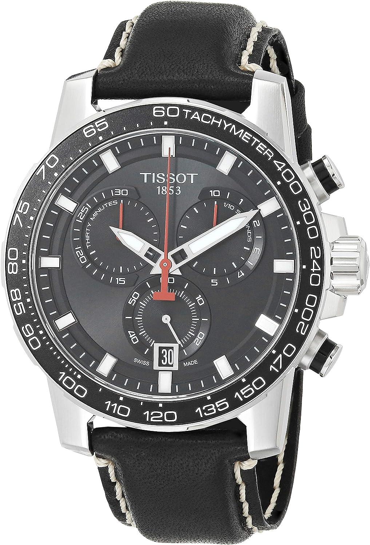 Tissot Supersport T125.617.16.051.00 - Reloj de pulsera para hombre (cronógrafo, correa de piel), color negro