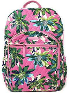 19d21c0cbaa1 Vera Bradley Campus Backpack with Solid Color Interior (Updated Version)  (Tropical Paradise with