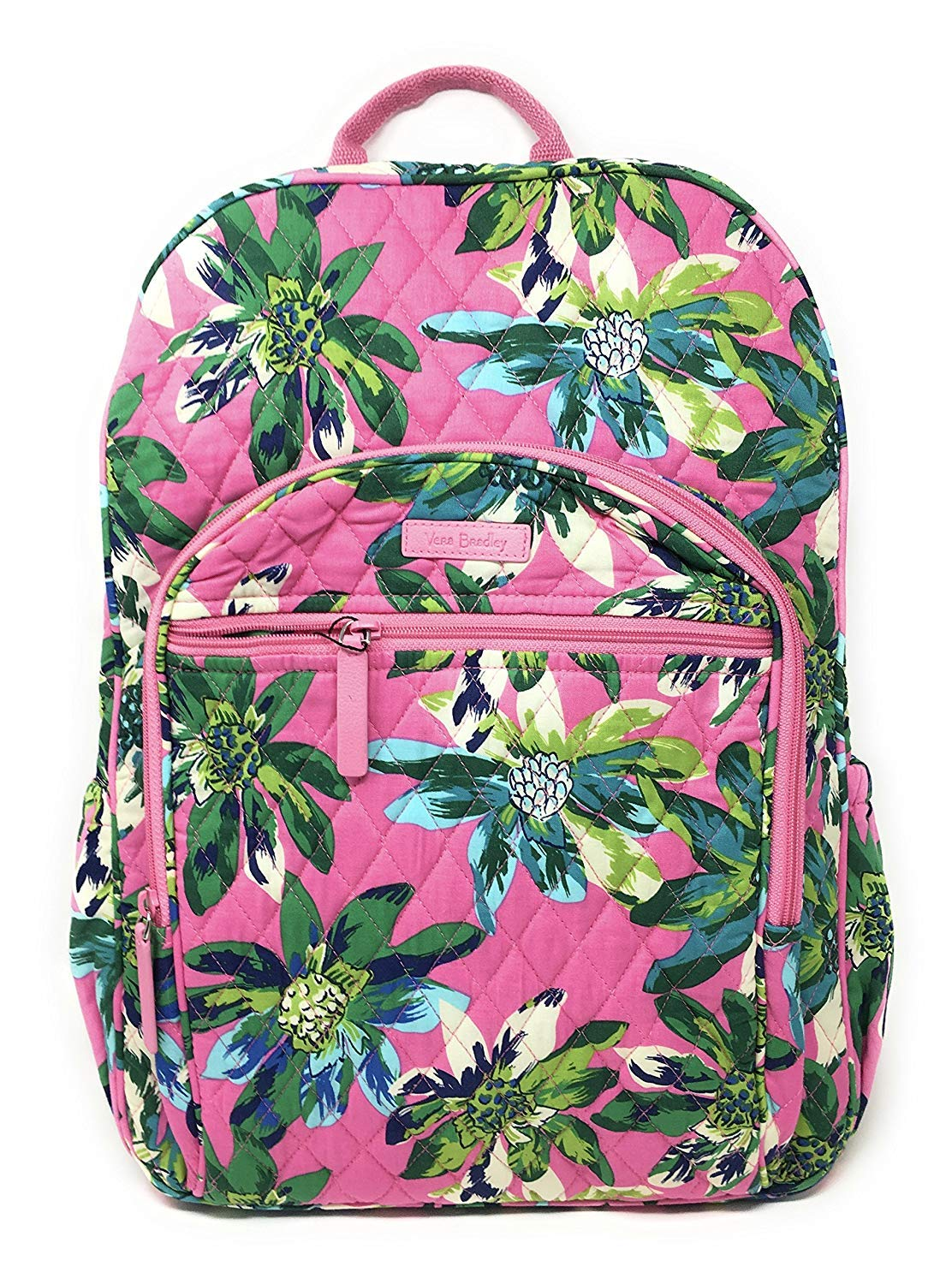 Vera Bradley Campus Backpack with Solid Color Interior (Updated Version) (Tropical Paradise with Blue Interior) by Vera Bradley