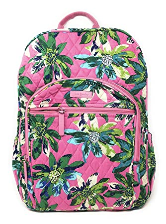 a13472c90 Amazon.com: Vera Bradley Campus Backpack with Solid Color Interior (Updated  Version) (Tropical Paradise with Blue Interior): CGK Products