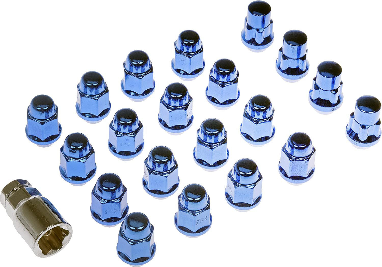 Dorman 711-342 Pack of 16 Wheel Nuts with 4 Lock Nuts and Key