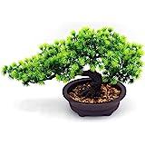 Artificial Plants Bonsai Pine Tree, Artificial House Welcoming Pot Plants, Japanese Pine Desktop Display Simulation, Living R