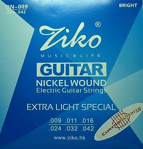 2 Juegos de cuerdas marca Ziko para guitarra eléctrica Modelo DN ...