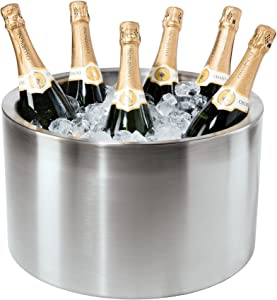Oggi Double Walled Insulated Stainless Steel Party Tub-Holds up to 12 bottles of Wine or Champagne