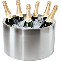 Oggi 7452 Double Walled Insulated Stainless Steel Party Tub-Holds up to 12 bottles of Wine or Champagne