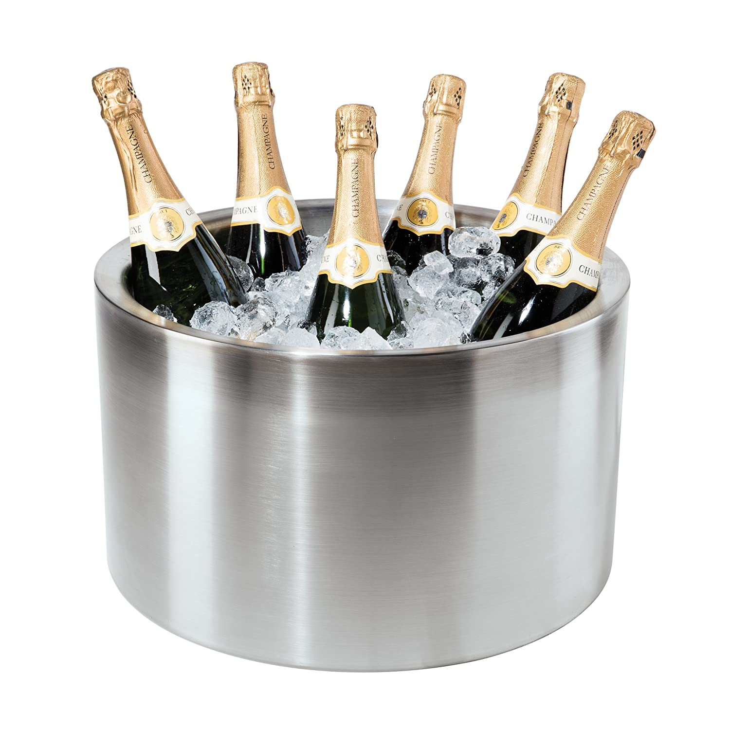 Oggi Double Walled Insulated Stainless Steel Party Tub-Holds up to 12 bottles of Wine or Champagne 7452