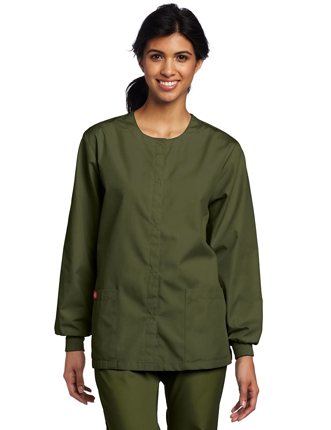 cf9955fc5e3 Amazon.com: Dickies Medical Scrubs 885306 Women's Missy Fit Every Day  Scrubs Round Neck Jacket: Clothing