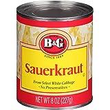 B&G Sauerkraut, 8 Ounce Can (Pack of 24)