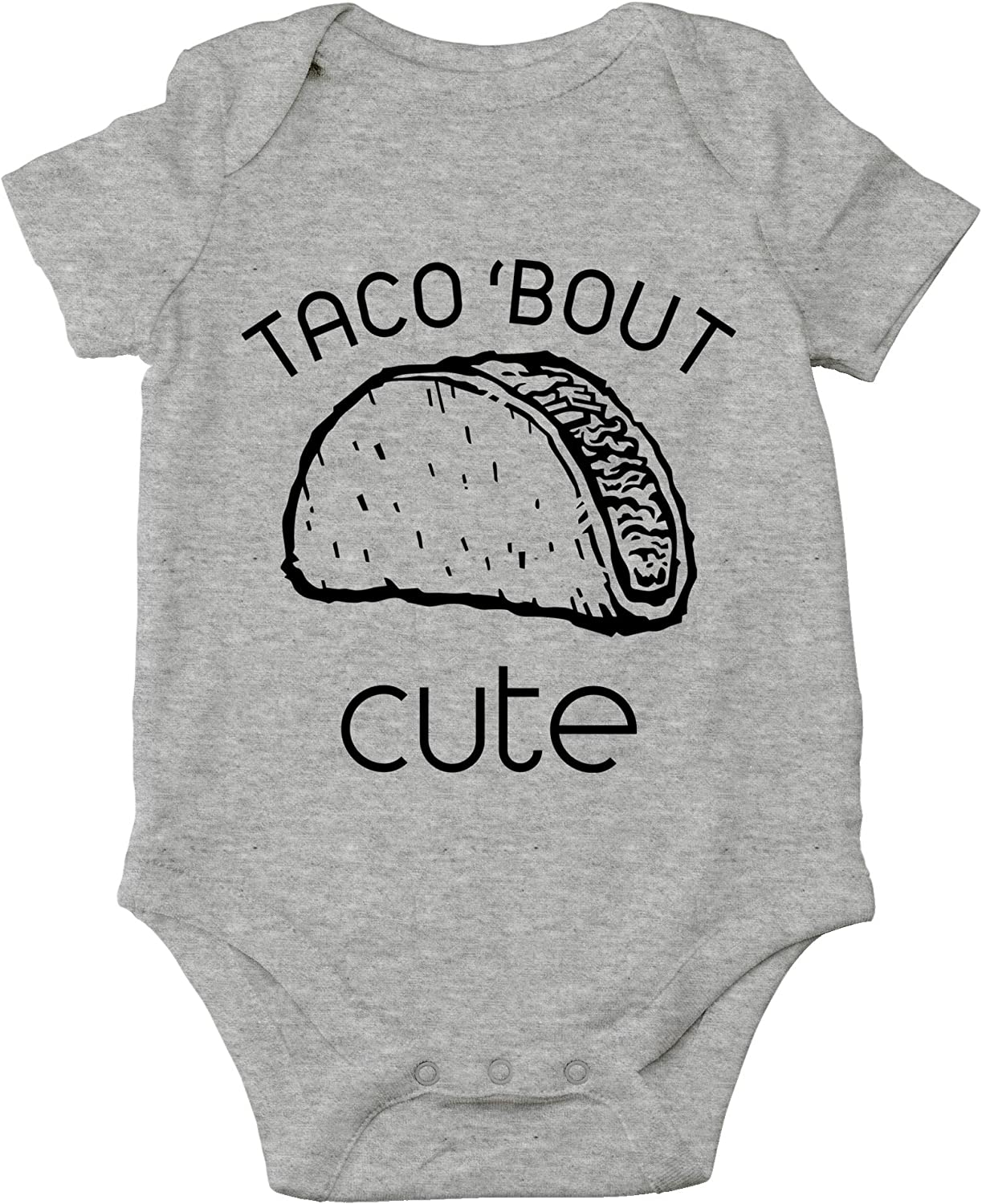 CBTwear Taco 'Bout Cute - Funny Mexican Food Lover Pun - Cute Infant One-Piece Baby Bodysuit