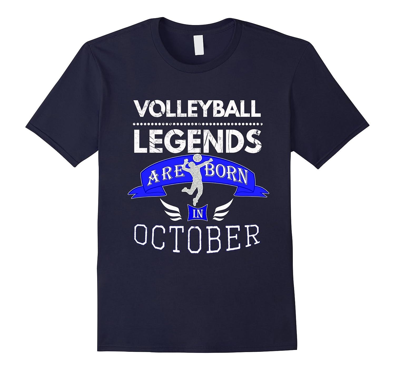 Top Girls or Boys Volleyball Legend Born October Fun TShirt-FL