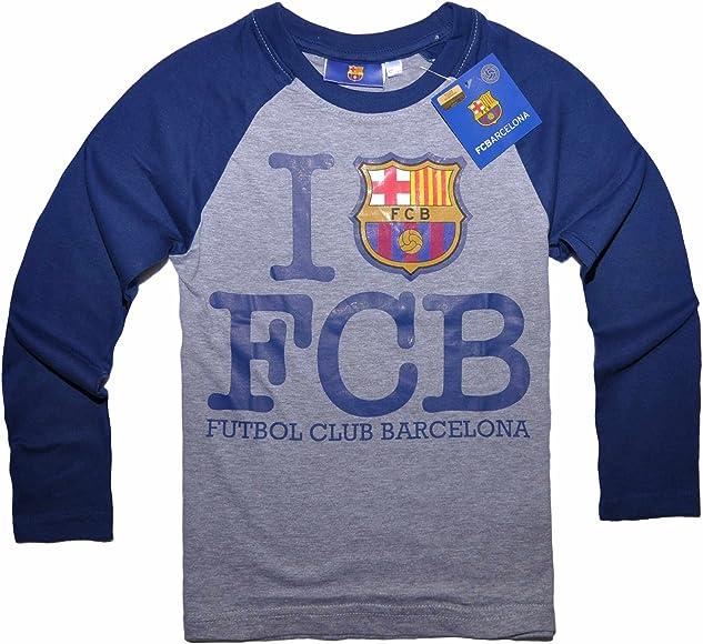 Barcelona F.C. - Camiseta de Manga Larga - para niño Design 1 140 ...