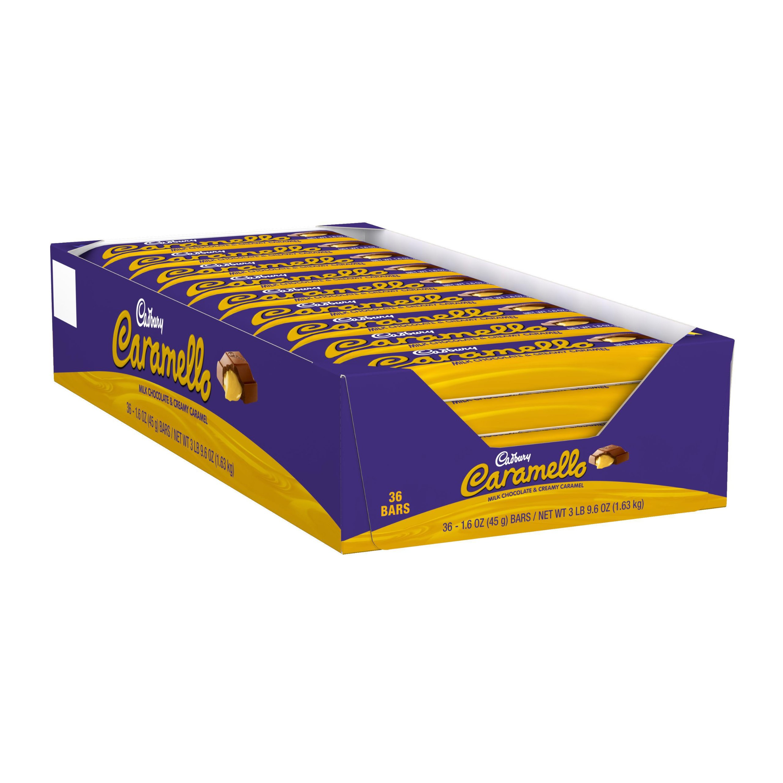 CARAMELLO Chocolate Candy Bar, Milk Chocolate Filled with Caramel, 1.6 Ounce Package (Pack of 36)