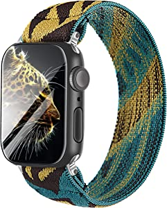 Elastic Strap/Band for Apple Watch, Cloth Wool Band Wristband Strap Bracelet Women Scrunchies Compatible with Iwatch Band Series 1 2 3 4 5 (Multicolor-3, 38mm/40mm)
