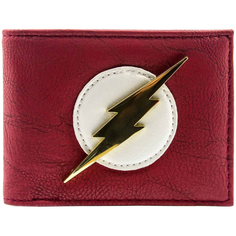 DC Comics Flash Shiny Distintivo d'oro Rosso portafoglio 28361