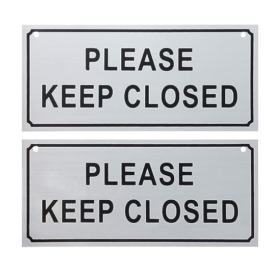 Amazon.com: Por favor cerrar carteles – 2 unidades por favor ...