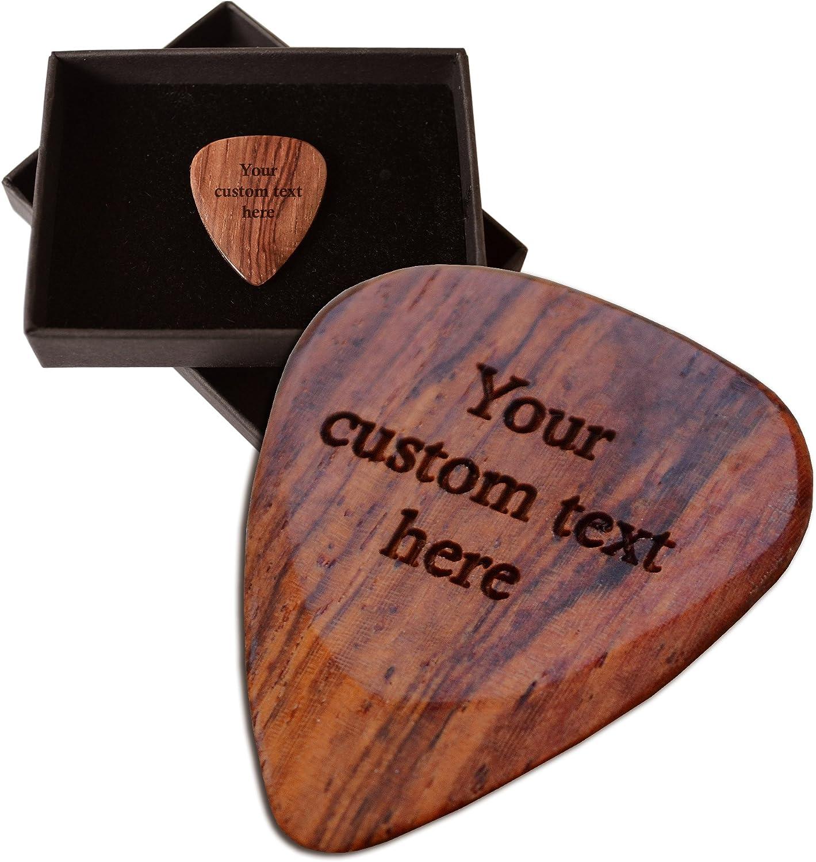 Púa de guitarra personalizada. Grabado con hasta 30 letras ...