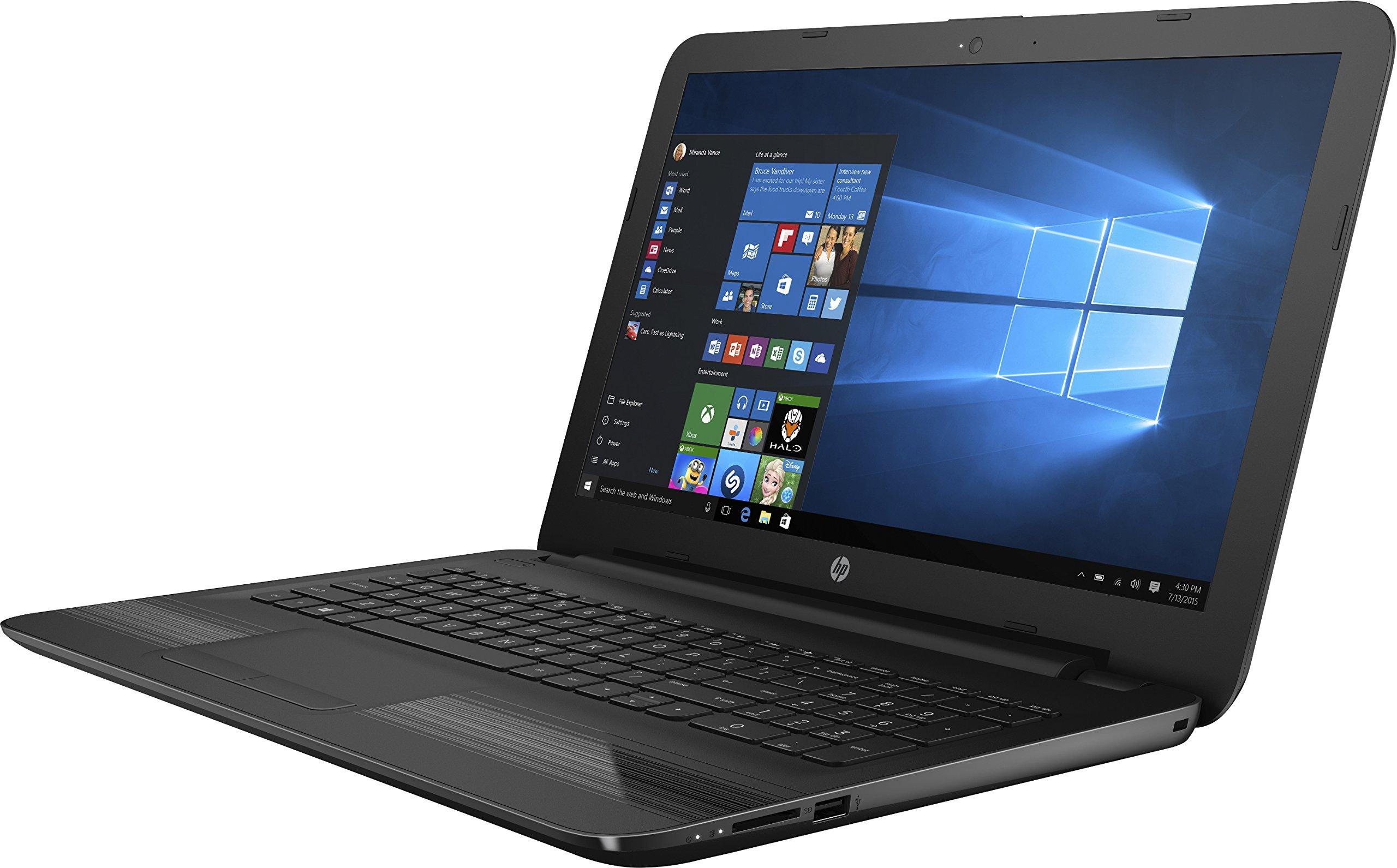 HP 15-BA000 15.6'' Laptop, HD Touchscreen, AMD A6-7310U 2GHz Quad-Core, 4GB DDR3, 2TB SATA, 802.11ac, Win10H - Jack Black (Certified Refurbished) by HP