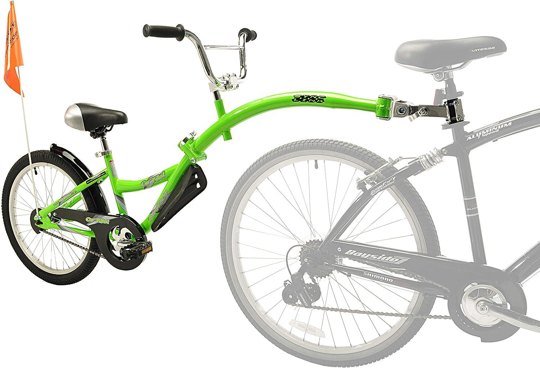 WeeRide 86457 Bicicleta Remolque Copilot, Niños, Verde, M: Amazon ...