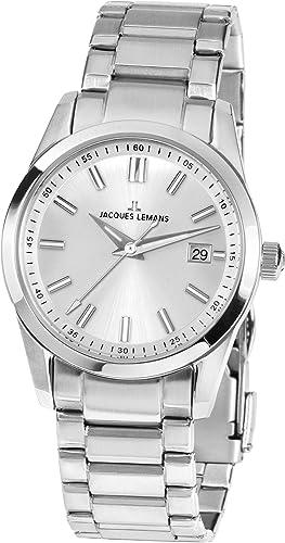 85a72f421e73 Jacques Lemans Liverpool - Reloj de Pulsera analógico de Cuarzo Acero  Inoxidable 1 - 1868b  Amazon.es  Relojes