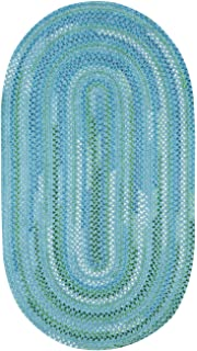 """product image for Capel Waterway Blue 4' 0"""" x 6' 0"""" Oval Braided Rug"""